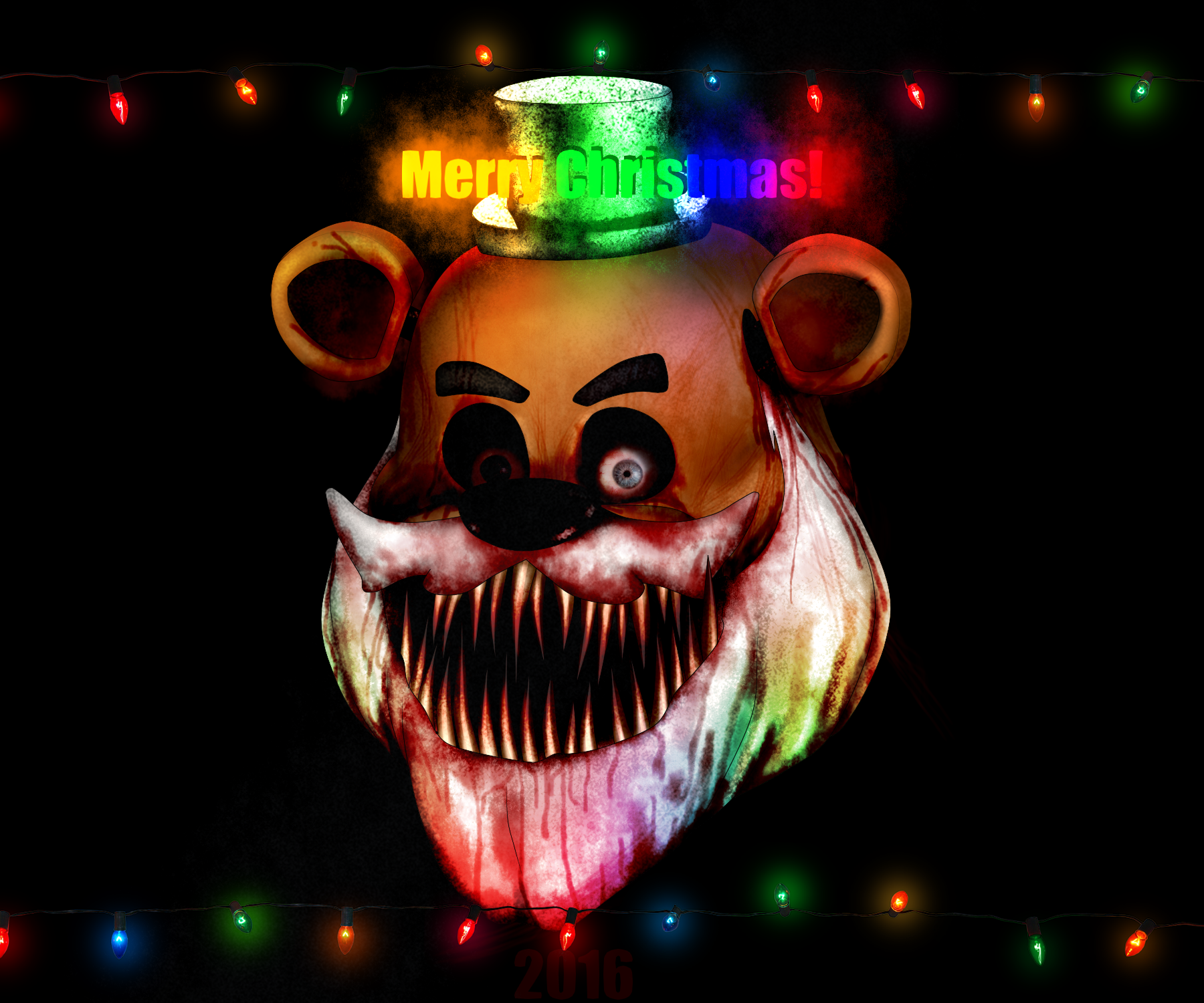FNAF- Merry Christmas? Oh... Freddy by Christian2099 on DeviantArt