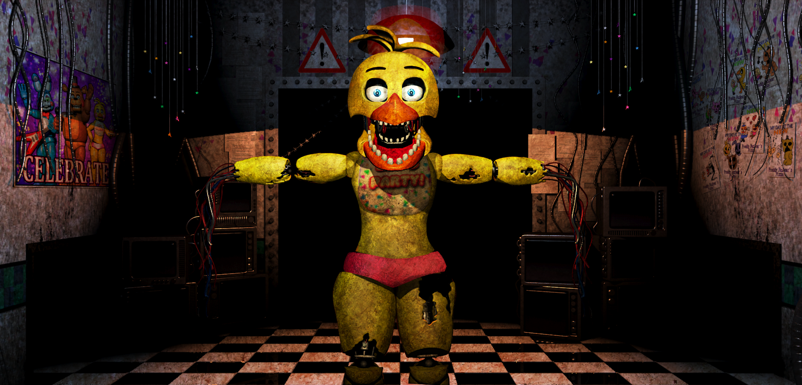 Old Freddy Toys : Fnaf withered old toy chica video by christian on