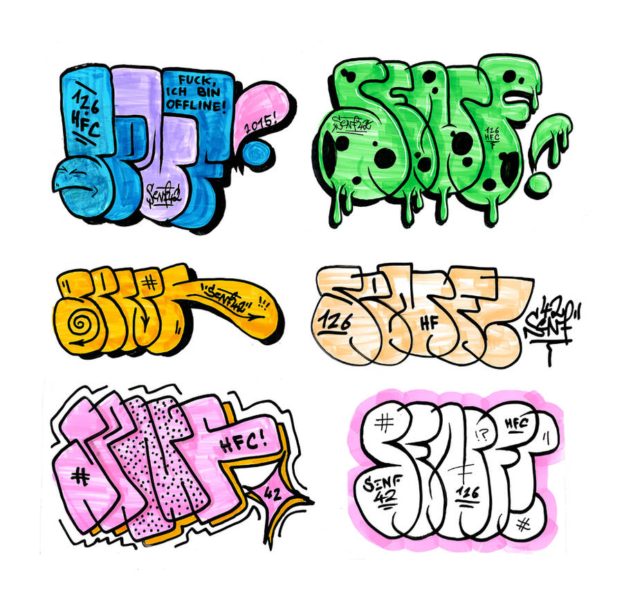 Throw up stickers by senf42