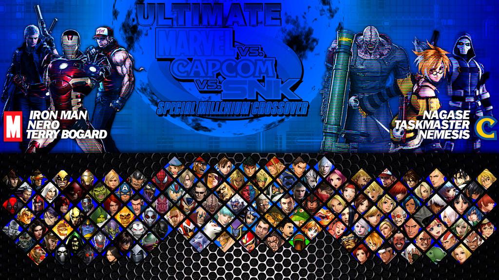 Marvel vs  Capcom vs  SNK ULTIMATE - Select Screen by