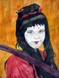 Samurai's spirit in watercolour