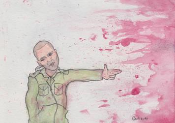 Bang Bang. Watercolor. by Grizlykenysheep