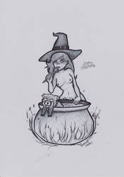 Witch and Red Panda by Grizlykenysheep