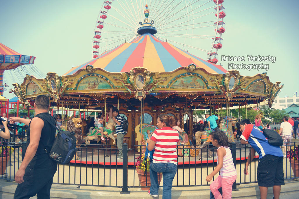 Merry-Go-Round - Navy Pier by VampireBree