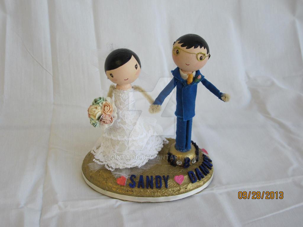 Peg People Wedding Cake Topper By Cintai30