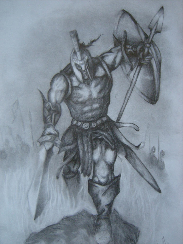 Pencil Drawing of Achilles Picture Pencil Drawing of Achilles Image