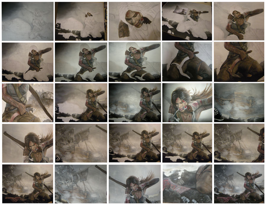 Lara Croft - Tomb Raider 2012 - All WIPs