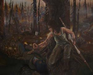 Tomb Raider 2013- Acrylic Painting #6