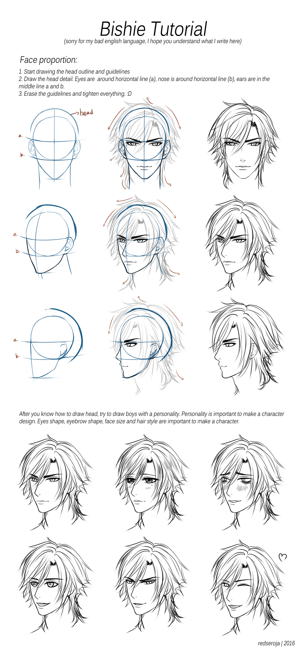 how to draw anime heads for beginners