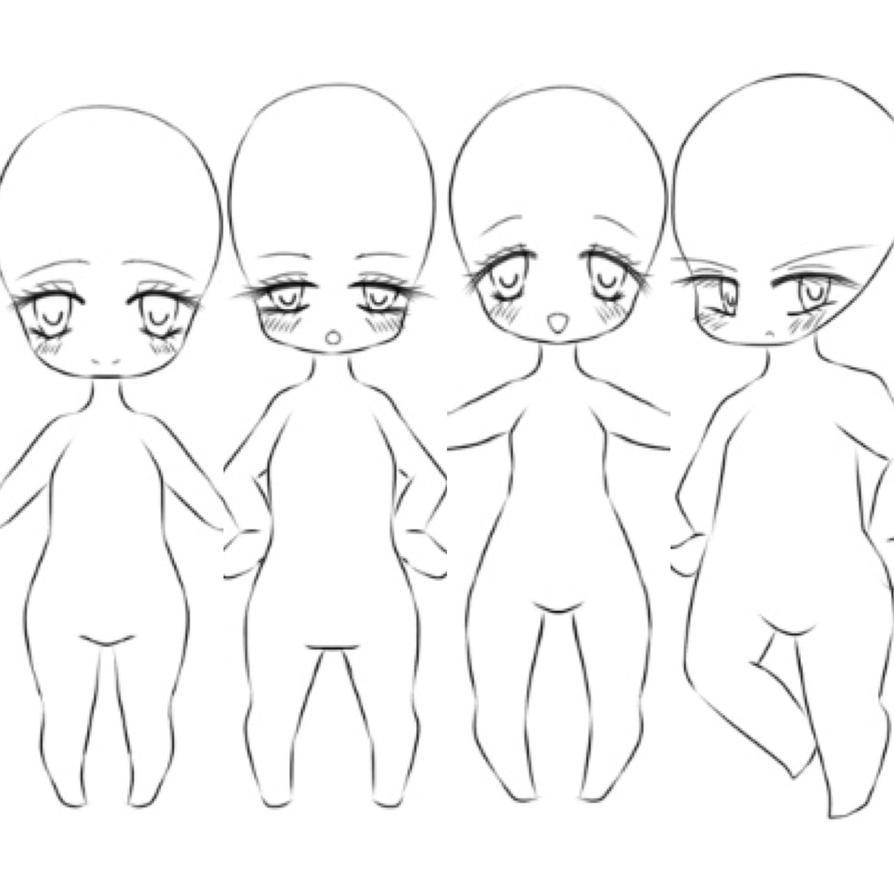 Chibi Poses Reference Chibi Base Set 9 By Nukababe Character