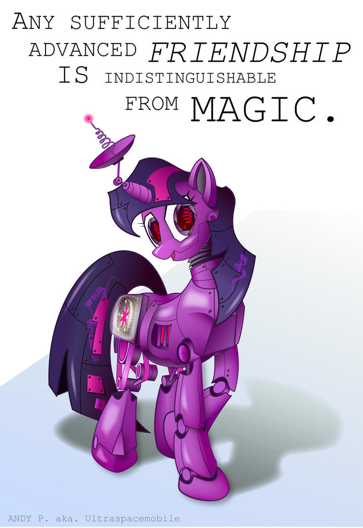Robotic Twilight Sparkle by ultraspacemobile