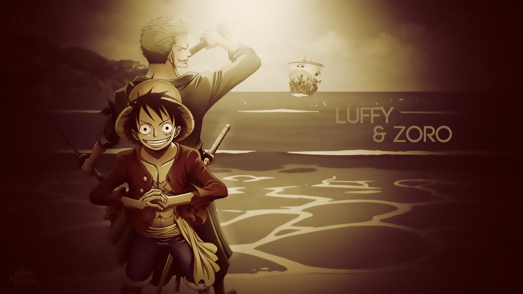 Luffy And Zoro Desktop Wallpaper One Piece By WHU Dan