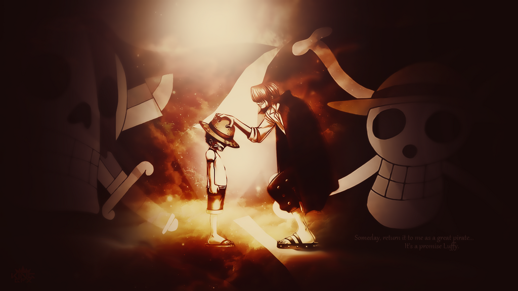 Shanks and Luffy Desktop Wallpaper (One Piece) by WHU-Dan