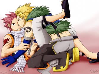 Fairy Tail BL Fanart: Natsu x Sting by catnappe143