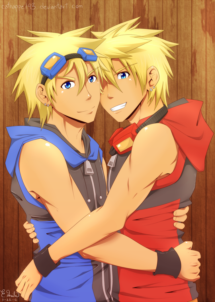 Bro Hug by catnappe143