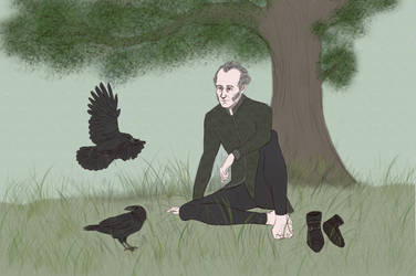 Regis and ravens by Marmottine1
