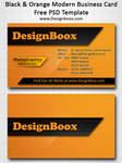 Black and Orange Modern Business Card Template