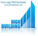 High Building PSD Logo Template