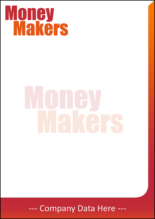 Money Makers Letterhead Free PSD Template