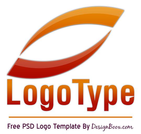 Orange Logo PSD Template