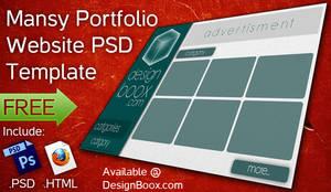 Mansy Portfolio Website Free PSD Template