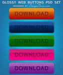 Glossy Web Buttons Psd Set