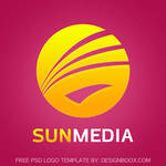 Sun Media PSD Logo Template