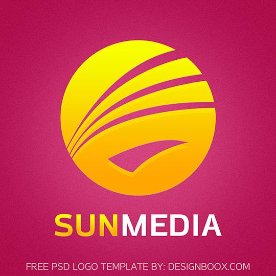 Sun Media PSD Logo Template