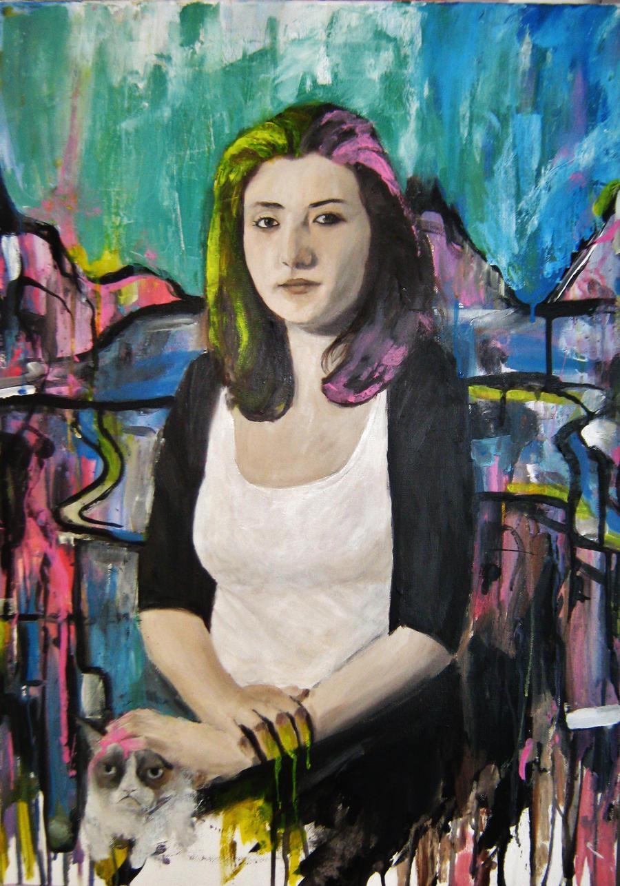 Interpretation of Mona Lisa by Cepuk