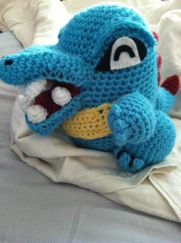 Totodile Crochet Doll by KimFlame-chan