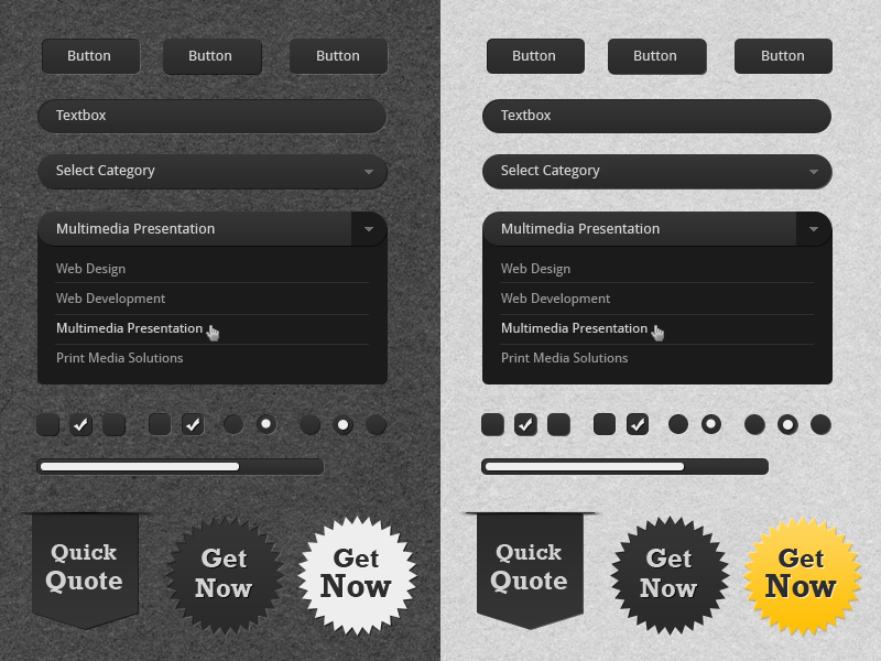 UI Kit - FREE PSD by themedesigner