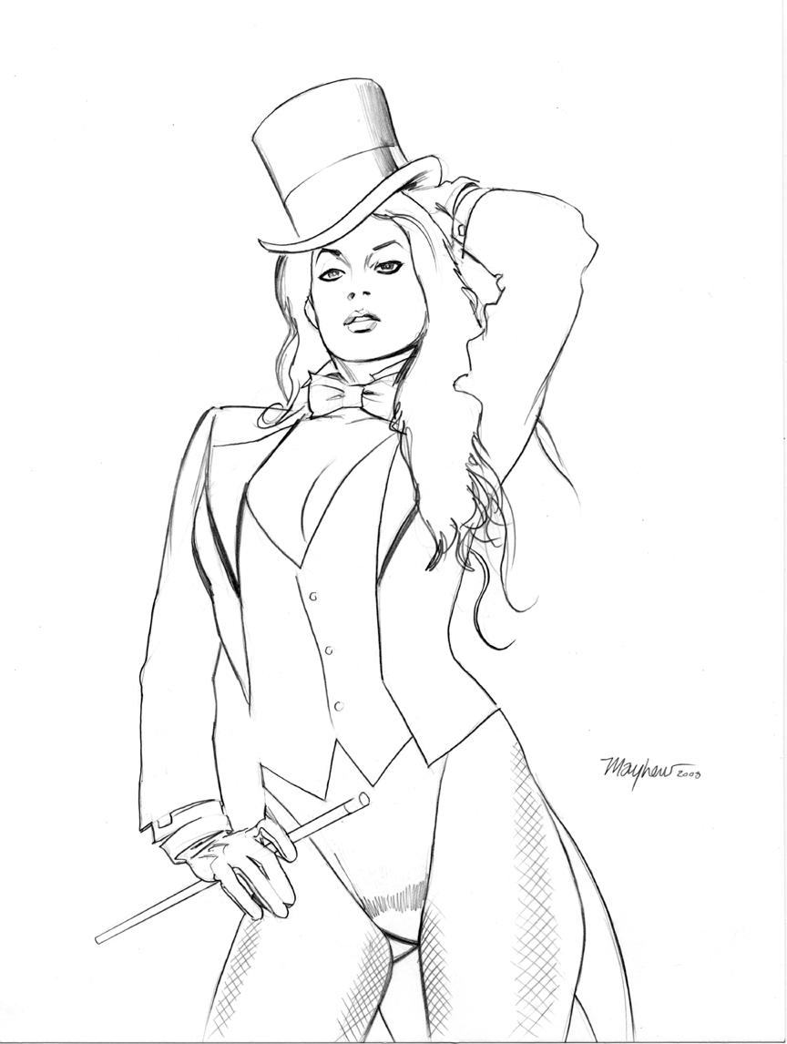 Zatanna Sketch by mikemayhew