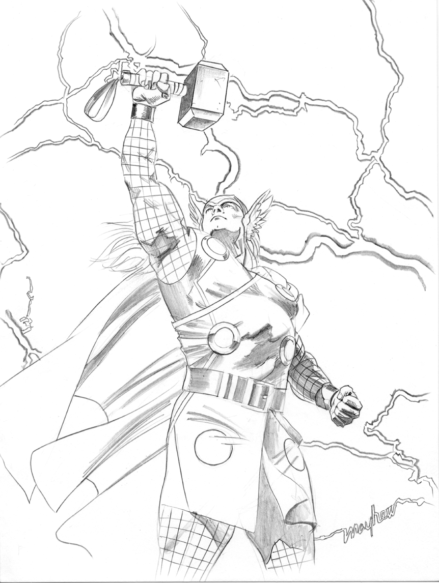 easy thor drawings - photo #24