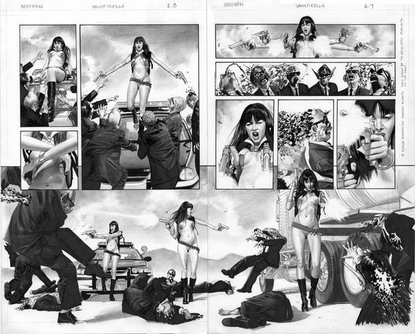 Vampirella 6 p8 and 9 by mikemayhew