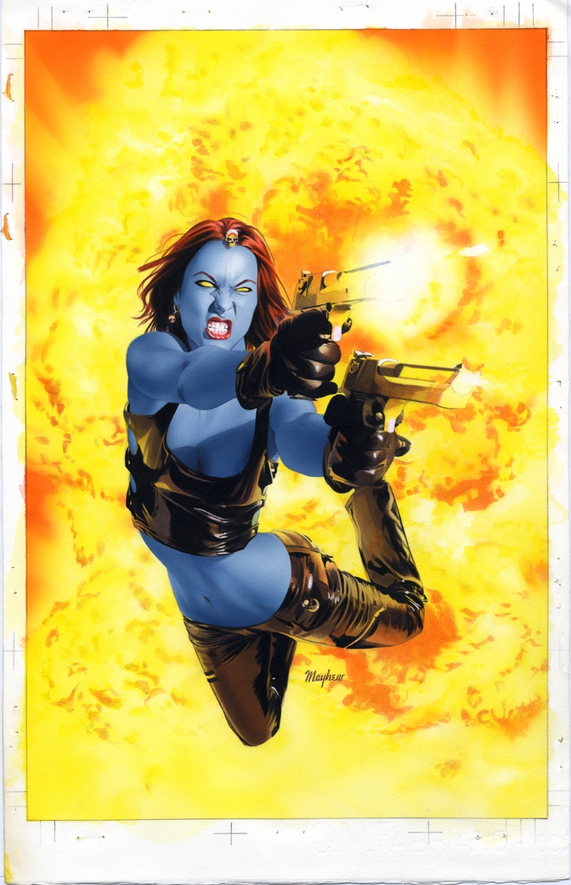 Mystique 12 Cover Painting by mikemayhew