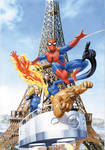 Spidey FF ComicBox Painting