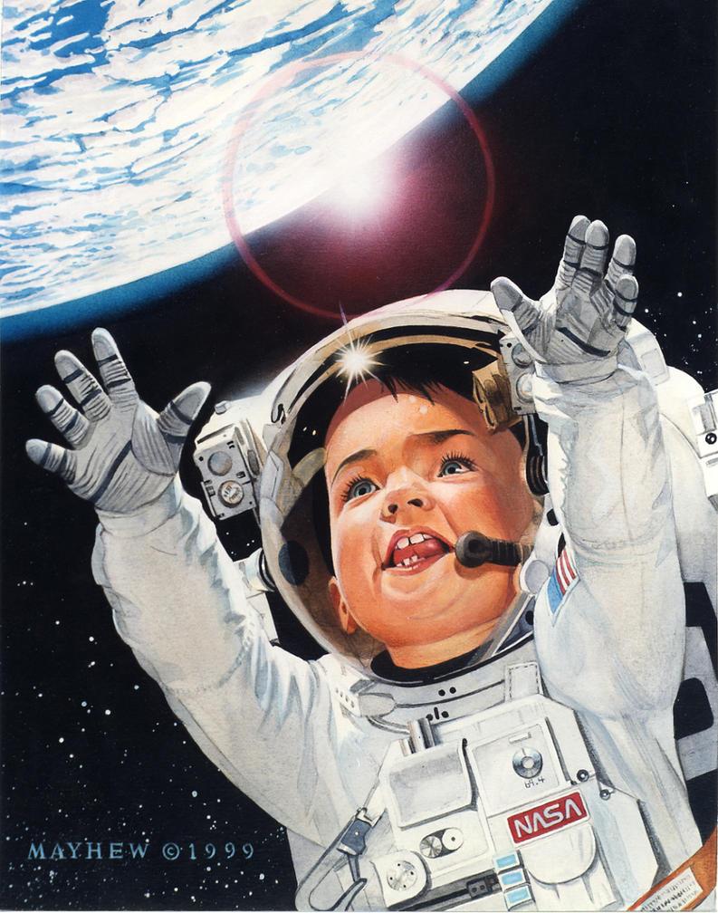 Baby Astronaut by mikemayhew