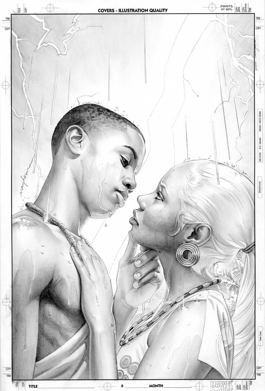 Storm 4 Cover Pencil Art by mikemayhew