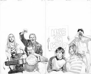Mary Jane Wrestling Scene by mikemayhew