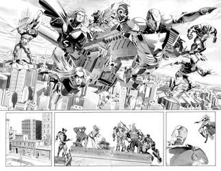New Avengers Annual 3 p22+23 by mikemayhew