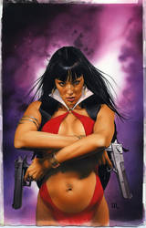 Vampirella 6 Cover Painting by mikemayhew