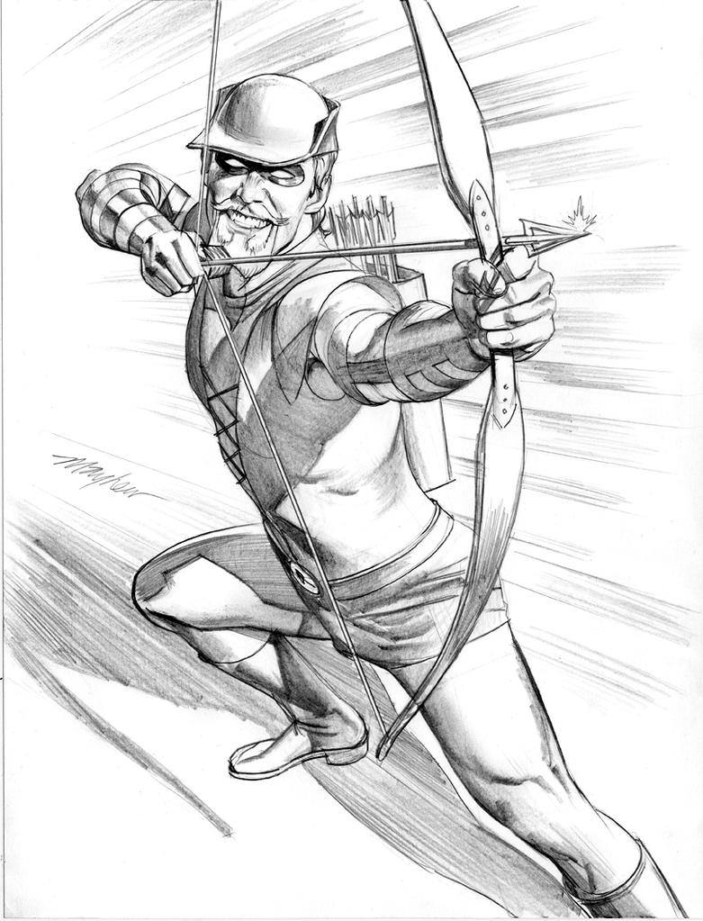 Green Arrow Pencils By Mikemayhew On DeviantArt