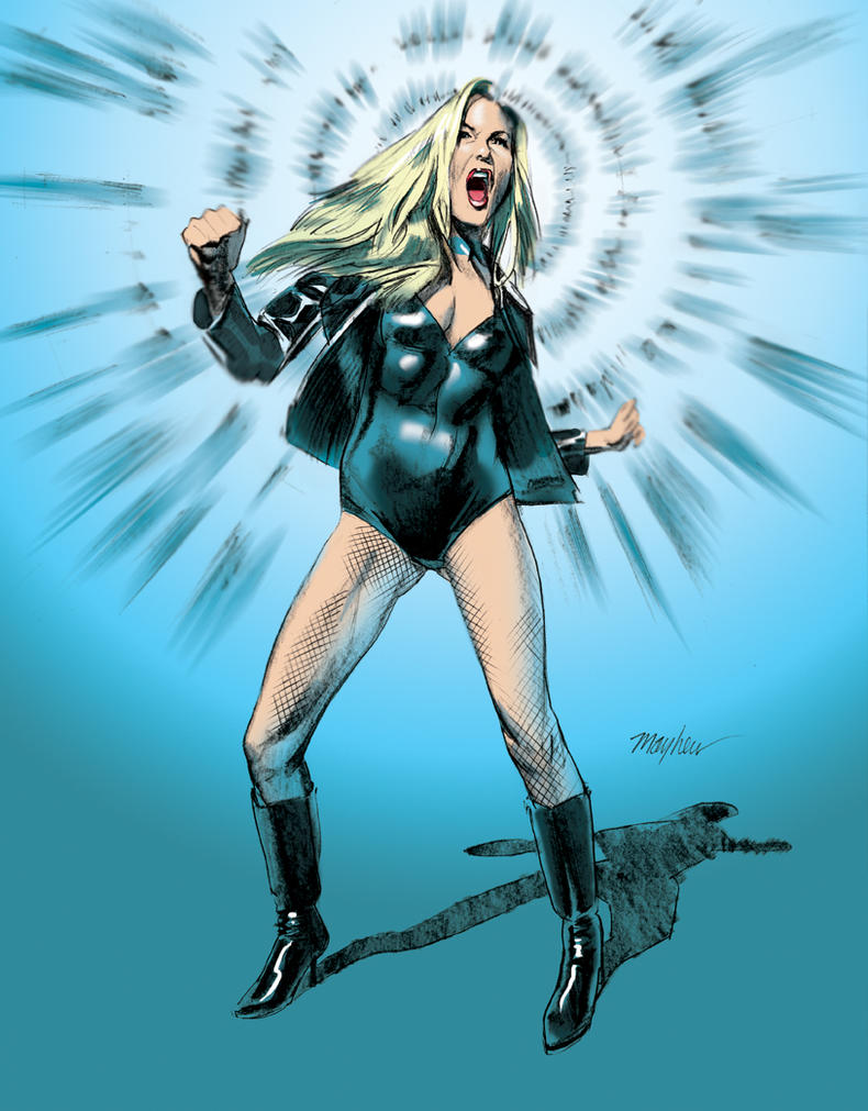 Black Canary Color by mikemayhew