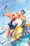 Namor 4 Cover Painting