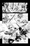 Green Arrow 7 Page 17 B+W art