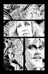 Green Arrow 7 Page 19 B+W art by mikemayhew