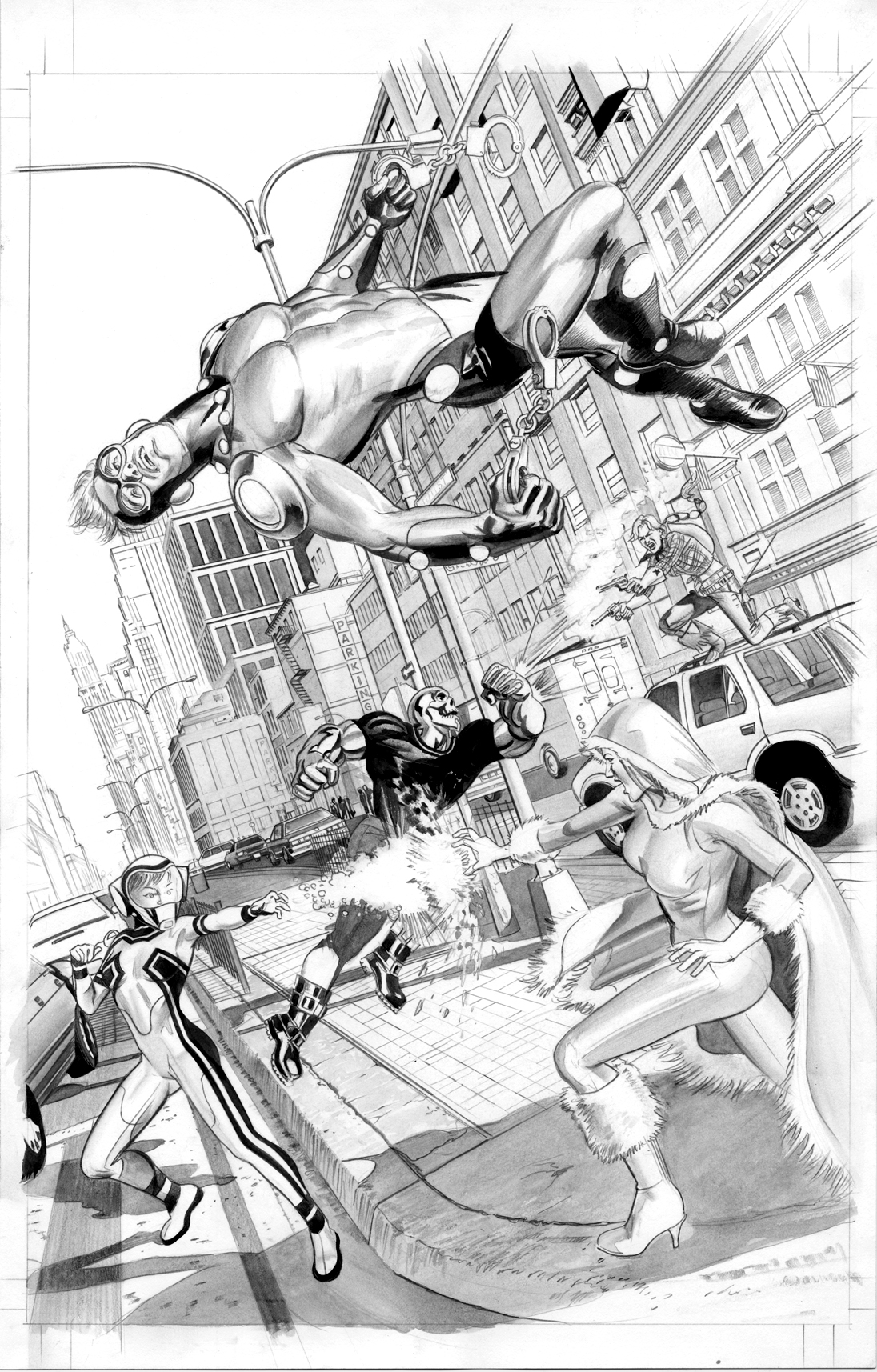 FEAR ITSELF HOMEFRONT1 Pg1 BW by mikemayhew