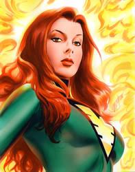 Jean Grey Phoenix Commission by mikemayhew