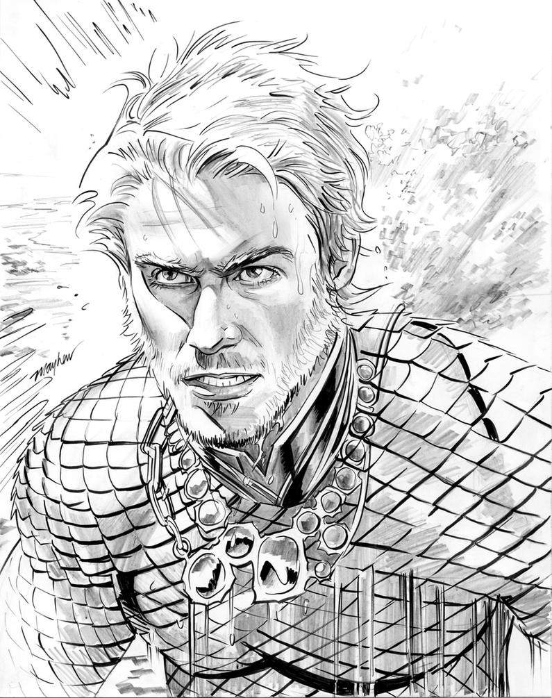 DCNu Aquaman Commission by mikemayhew
