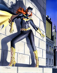 Mike Mayhew Batgirl Painted Commission